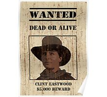 """Clint Eastwood"" wanted poster from Back to the Future 3 Poster"