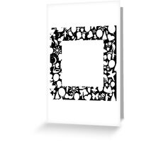 white square Greeting Card