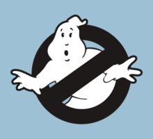 Original Ghostbusters Logo (in black and white) Kids Clothes