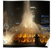 Chicago Fountain Photographer Poster