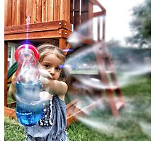 Bubble bombardment  Photographic Print