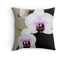 Orchids inside the office Throw Pillow