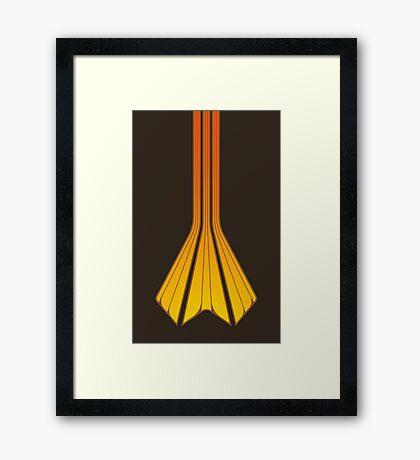 Retro Lines - Orange Flame Framed Print