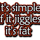 Fat funny Tshirt Sticker and more by jpmdesign