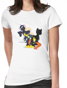 My Little Batgirls! Womens Fitted T-Shirt