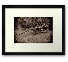 Waiting for a Horse Framed Print