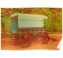 Horse-drawn Wagon Poster