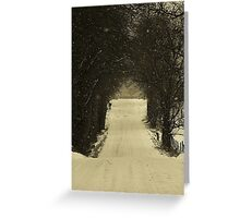 All is quiet on New Year's Day.. A world in white gets underway Greeting Card