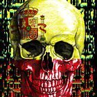 digital Skull (flag of spain) by sebmcnulty
