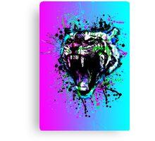 digital tiger  Canvas Print