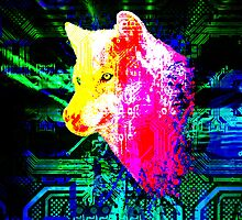 digital wolf by sebmcnulty