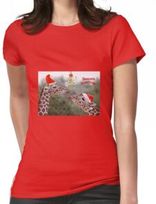 Mistletoe Moments Womens Fitted T-Shirt