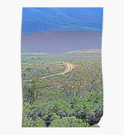 A road to the hills from Beltana Station Poster