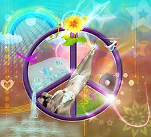 Groovy Sexy Fantasy Peace Scene by Sarah  Eldred