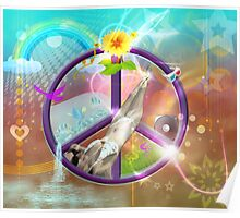 Groovy Sexy Fantasy Peace Scene Poster