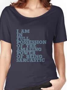 """The Demon's Lexicon: """"Sarcastic"""" Women's Relaxed Fit T-Shirt"""