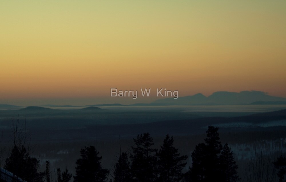 Sunset At Idre Fjäll - Memories Of Sweden by Barry W  King