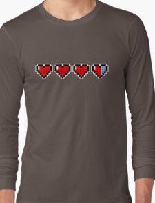 Pixel Hearts Long Sleeve T-Shirt