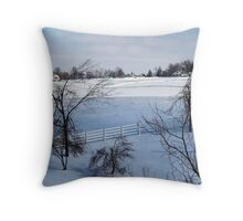 Calumet in Snow Throw Pillow