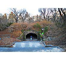 Central Park - Couple Under the Bridge Photographic Print