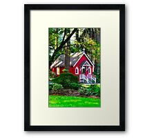 The Grotto - ST. Anne's Chapel  Framed Print