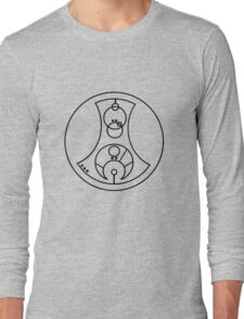 Fuck You - Circular Gallifreyan (black) Long Sleeve T-Shirt