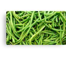 Green Beans Canvas Print