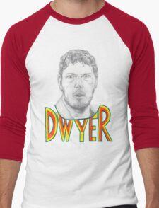 Andy Dwyer/Chris Pratt Portrait Men's Baseball ¾ T-Shirt