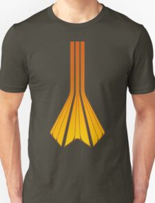 Retro Lines - Orange Flame T-Shirt