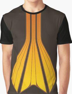 Retro Lines - Orange Flame Graphic T-Shirt