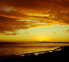 Solent Sunset by Richard Hepworth