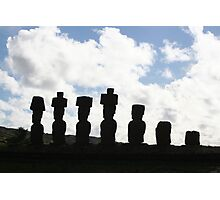 Easter Island Silhouette Photographic Print