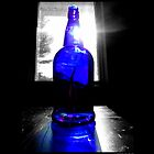 Sun Rays Behind Cobalt Blue Glass Bottle  by © Sophie W. Smith