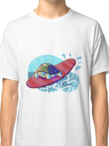 Surfing Turtle Classic T-Shirt