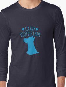 Crazy Scottie (Scottish dog) Lady Long Sleeve T-Shirt