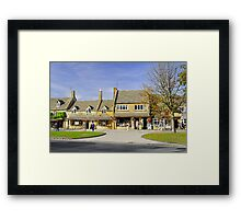 High Street Shops in Broadway, Gloucestershire Framed Print
