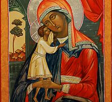 Seeker of the Lost Souls. Ancient orthodox icon replica. by Natalia Lvova