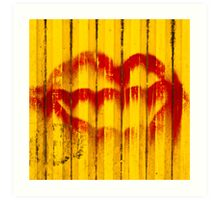 Construction Lips Art Print