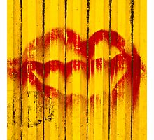 Construction Lips Photographic Print