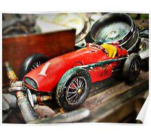 Vintage toy Ferrari Poster
