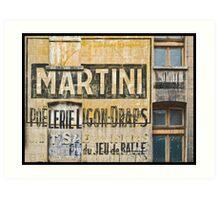 Martini et Poëlerie Art Print