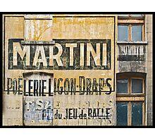 Martini et Poëlerie Photographic Print