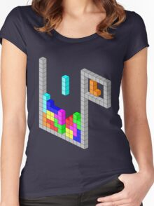 Isometric Tetris Women's Fitted Scoop T-Shirt