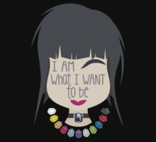 I AM WHAT I WANT TO BE - Surreal woman face with Jewels Kids Tee