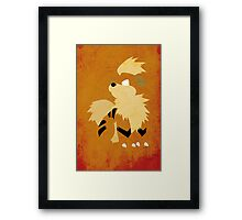 Growlithe Framed Print