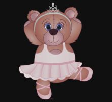 Cute Cartoon Teddy Bear Ballerina Baby Tee