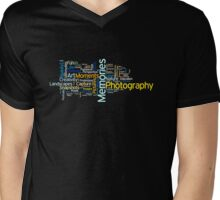 Photography Word Art 2 Mens V-Neck T-Shirt