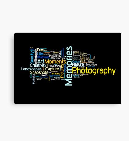 Photography Word Art 2 Canvas Print