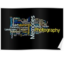 Photography Word Art 2 Poster