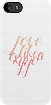 Love Like Oxygen (Phone Case) by pinkbook